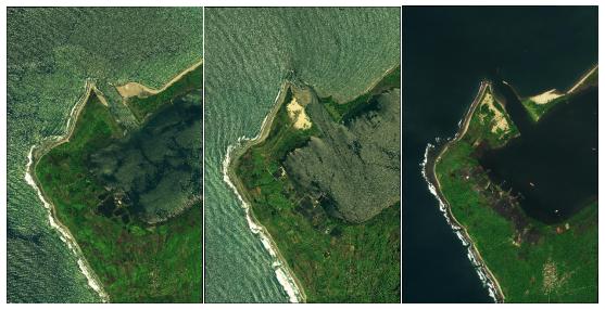 多期遥感卫星影像监测-海岸线侵蚀监测
